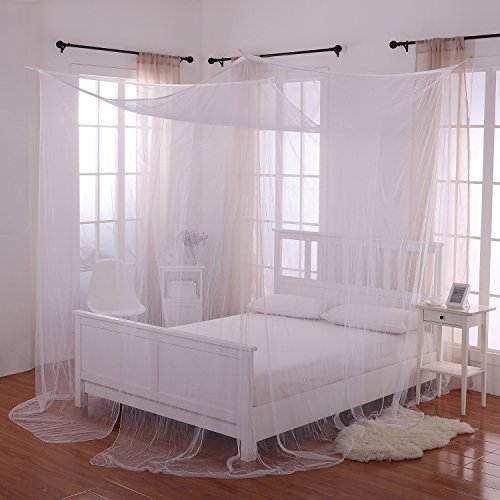 Four Canopy Poster (Heavenly 4 Post Bed Canopy, White)