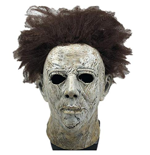 Yacn Movie Halloween 2018 Michael Myers Mask wiht Beauty Hair,Overhead Mask Adult Cosplay]()