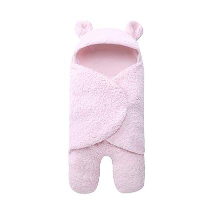 LANDUM Newborn Swaddle Wrap Suave Ropa de Cama para bebés de Invierno con una Manta de