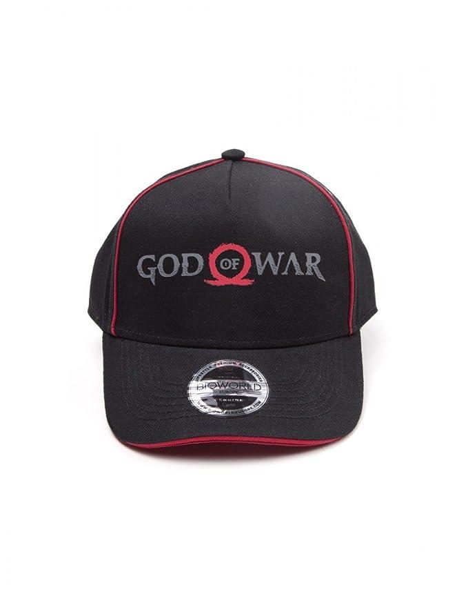 Bioworld God of War Logo Print Curved Bill Cap, Gorra de Béisbol Unisex Adulto, Negro (Black Black), Talla única
