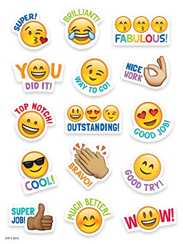 Creative Teaching Press Emoji Rewards Stickers (4143) (Praise Students For A Job Well Done)