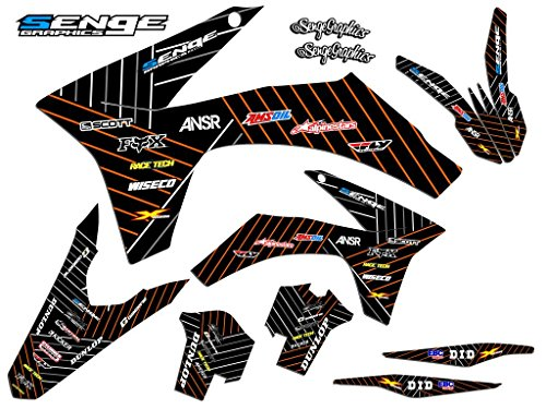 Senge Graphics kit compatible with KTM 2003-2004 SX, Race Series Black Graphics Kit ()