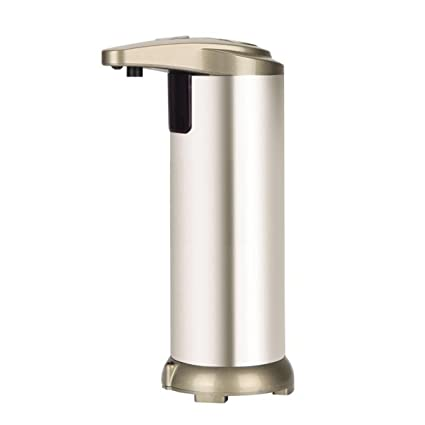 iitrust Dispensador de jabón liquido automático, de acero inoxidable dispensador de jabón automático con sensor