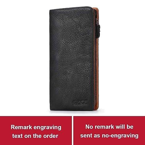 8e37b5816d44 Amazon.com: Men Genuine Leather Wallet Fashion Long Wallets Interior ...
