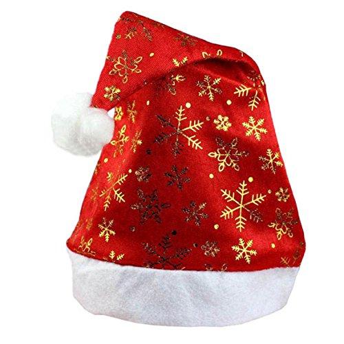 Susenstone New Christmas Holiday, Xmas Cap For Santa Claus Gifts Nonwoven (Gold) (Santa Claus Cap)