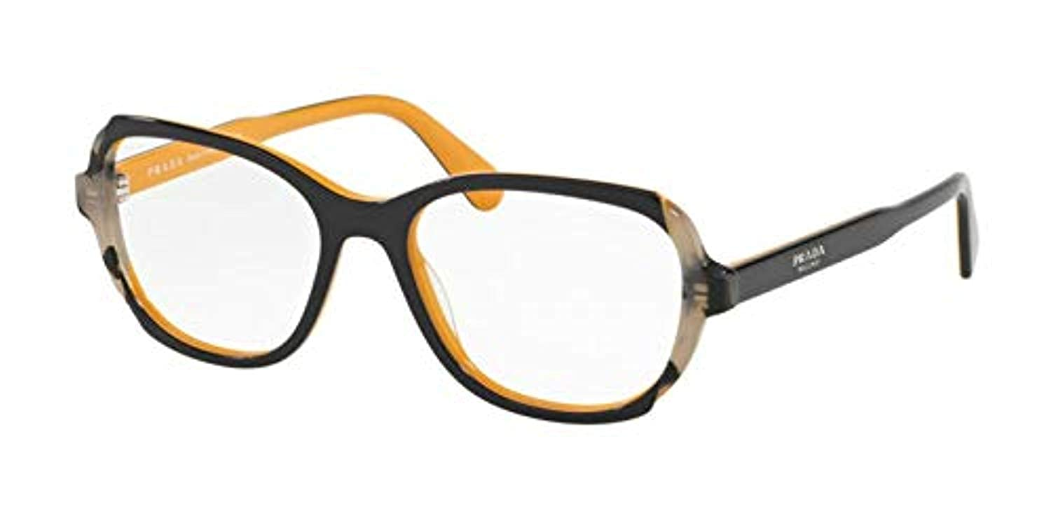 bae9f2b9ff Eyeglasses Prada PR 3 VV 30Z1O1 TOP BLUE YELLOW GREY HAVANA at Amazon Men s  Clothing store