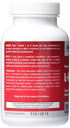 Jarrow Formulas L Glutamine 750 mg