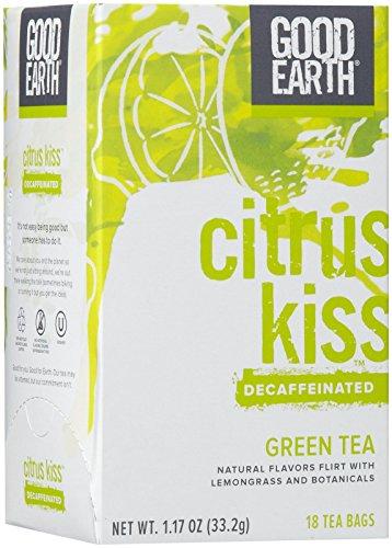Good Earth Decaffeinated Green Tea, Citrus Kiss, 18 ct
