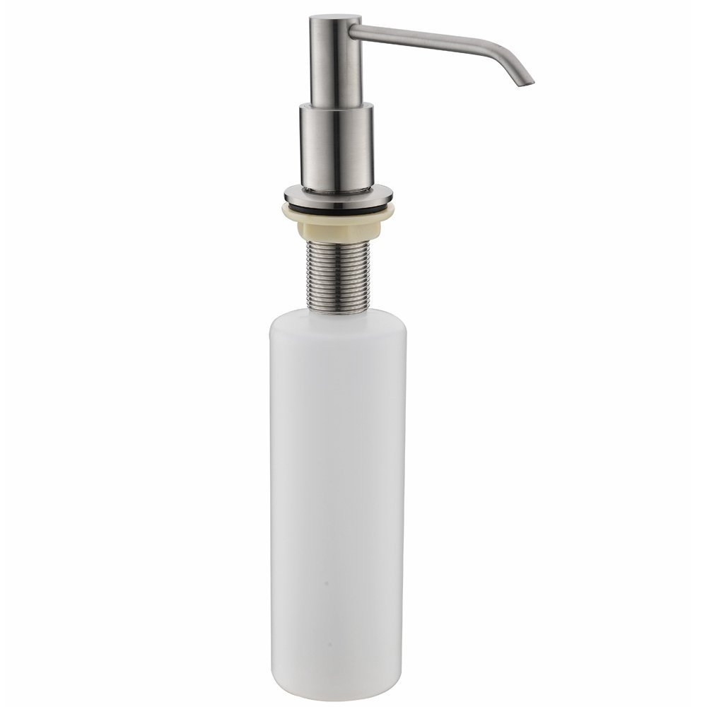 VCCUCINE Modern Built In Lotion Stainless Steel Brushed Nickel Kitchen Countertop Liquid Dish Sink Soap Dispenser Pump, Deck Mount Better Living Soap Dispenser Replacement