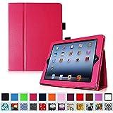 Fintie iPad 2/3/4 Case - Slim Fit Folio Case with Smart Cover Auto Sleep / Wake Feature for Apple iPad 2, the new iPad 3 & iPad 4th Generation with Retina Display, Magenta