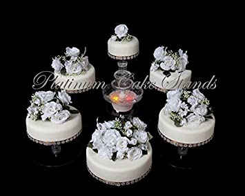 Amazon.com | 6 Tier Wedding Cake Stand With Fountain Set (STYLE ...