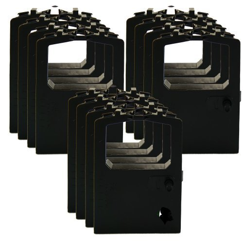 12 Pack Ink Ribbon Replacement for Okidata 320 420 Turbo 52102001 52104001 (12-pk, Black), Model: 52102001, Office/School Supply Store