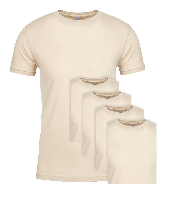 Next Level NL3600 100/% Cotton Premium Fitted Short Sleeve Crew Cream XXX-Large 5 Pack