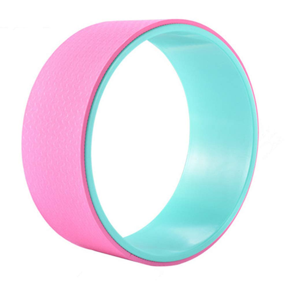 Pink Yoga Training Aids Yoga Wheel Yoga Circle Stretch Back Bend Roller Fitness Beauty Back Shape Compression AntiSlip 12  5 Inch