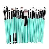 Tonsee 20 pcs/set Makeup Brush Set (Blue+Black)