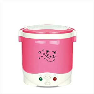 Mini Rice Cooker Multifunctional Portable Cookers Used In House 220V Or Car 12V Truck 24V Used As Lunch Box Pink 220V