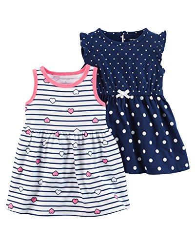 Carter's Baby Girls' 2 PK 121h237 (18 Months, Navy/Stripe) ()