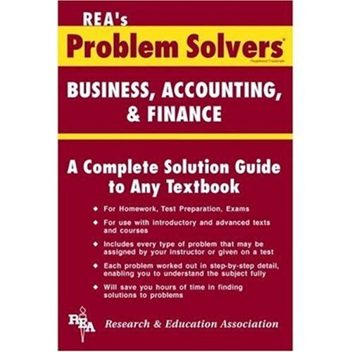 100 best selling accounting books of all time bookauthority book cover of editors of rea business accounting finance problem solver problem fandeluxe Choice Image