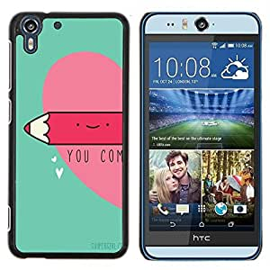 Dragon Case - FOR HTC Desire EYE M910x - between two loving hearts - Caja protectora de pl??stico duro de la cubierta Dise?¡Ào Slim Fit