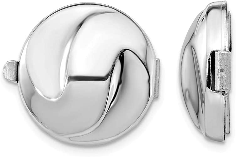925 Sterling Silver Set/2 Swirl Design Button Covers Cover Man Fine Jewelry For Dad Mens Gifts For Him|Amazon.com