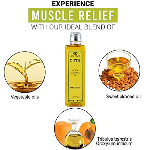 Aloe Veda Body Massage Oil for Stress Relief, 200ml