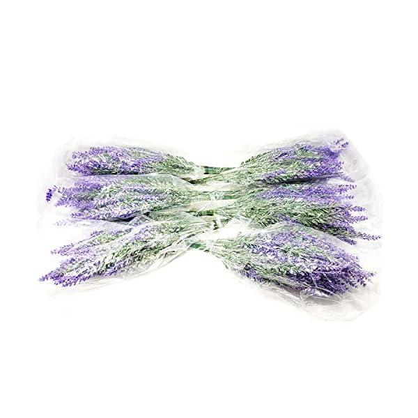 6Pcs Artificial Lavender Flowers Bouquet Fake Lavender Plant Bundle Wedding Decorations Home Decorations Garden Patio Decorations