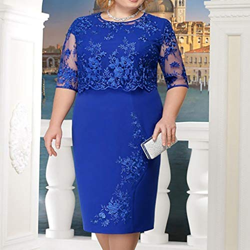 Elegant Casual Elegante Spring Party Long Beach Vectry Cocktail Blue Women Dresses pwfqqUC