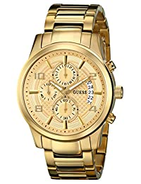 GUESS Men's U0075G5  Gold-Tone Chronograph Watch with Date Function