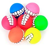 Pets Corner Market Pet Puppy Dog Funny Ball Teeth Silicone Toy Chew Sound Dogs cat Play Toys Soft Rubber Dog Chew Squeaker Squeaky toy trainning