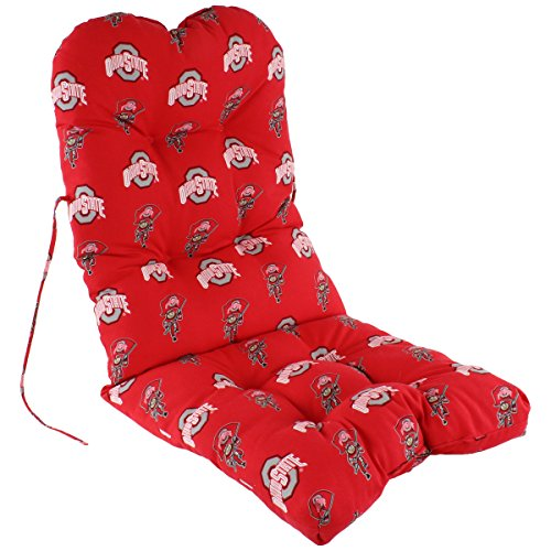 Ohio State Buckeyes Seat Cushion - College Covers Ohio State Buckeyes Adirondack Chair Cushion, One Size, Team Colors