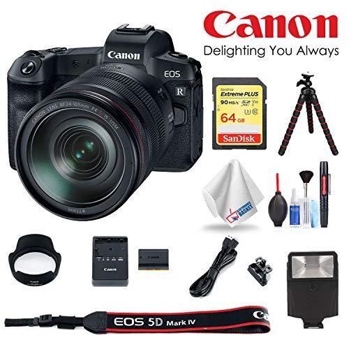 Standard Bundle Canon EOS R Mirrorless Digital Camera with RF 24-105 F4 L is USM Lens