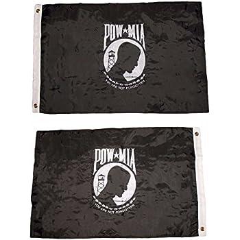 Amazon Com Pow Mia Flag 2x3ft Nylon Double Sided