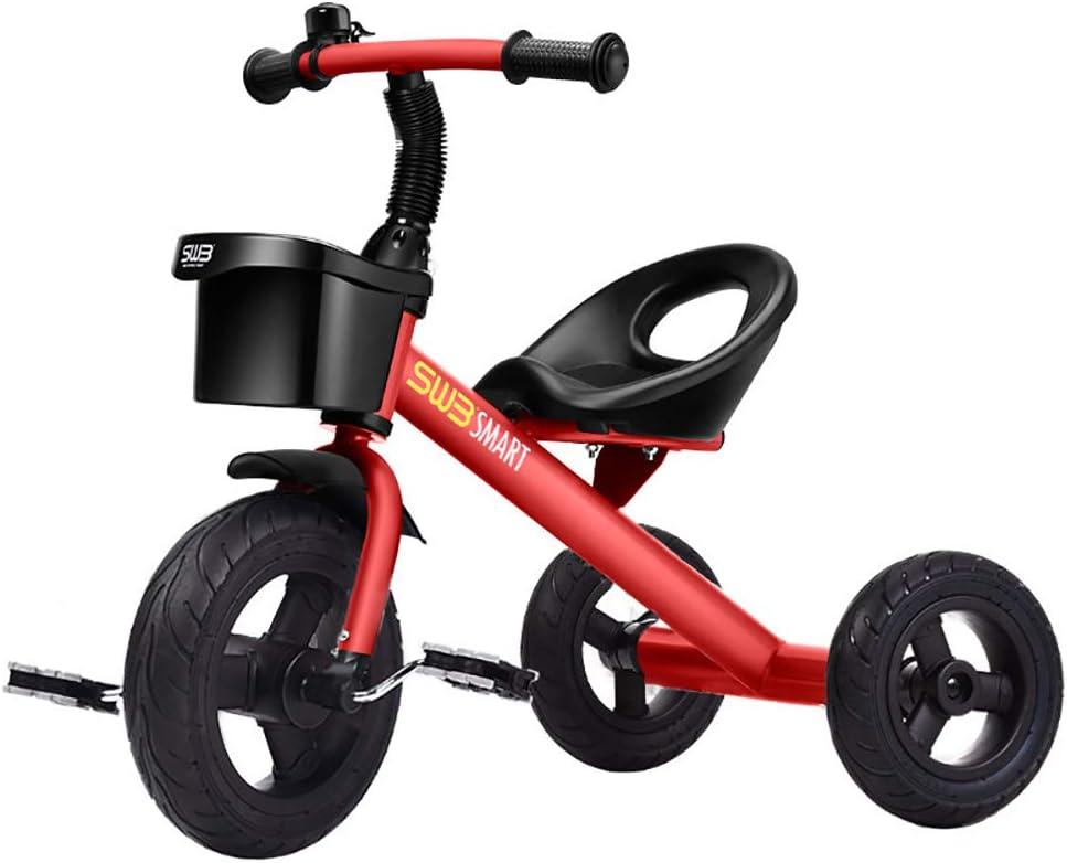 SSLC Triciclos Bebes 1 Año Ultraligero Bicicleta de Tres Ruedas Niños Acero de Alto Carbono +18 Meses Pedales para Triciclo