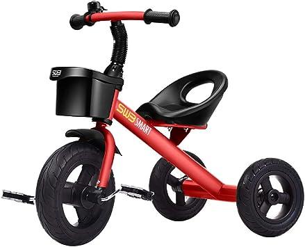 Triciclos Bebes 1 Año Ultraligero Bicicleta de Tres Ruedas Niños Acero de Alto Carbono +18 Meses Pedales Triciclo, Red: Amazon.es: Deportes y aire libre
