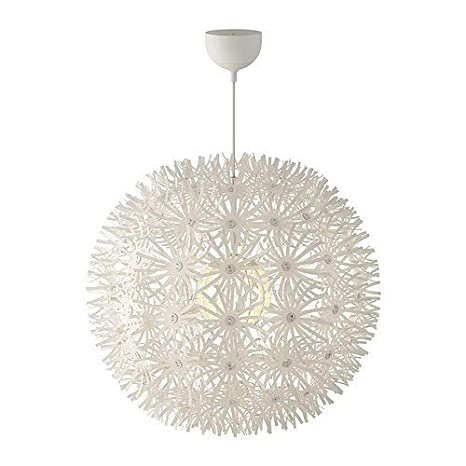 Ikea Maskros Pendent Light Paper Lamp Diameter 55 Cm Dandelion Effect White