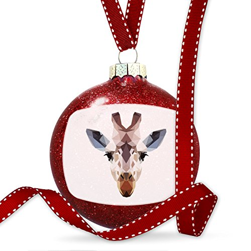 Christmas Decoration Geometric Animal art Giraffe Ornament by NEONBLOND