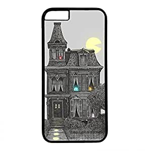 Hard Back Cover Case for iphone 6,Cool Fashion Black PC Shell Skin for iphone 6 with Haunted by the 80's