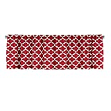 Red Window Curtain Valance with Ruffled Top For Sale