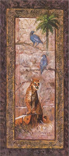 (High Quality Polyster Canvas ,the Imitations Art DecorativeCanvas Prints Of Oil Painting 'Leopard,Bird And Tree', 20x45 Inch / 51x114 Cm Is Best For Bar Decor And Home Gallery Art And Gifts)
