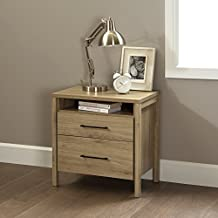 South Shore Furniture Gravity 2-Drawer Nightstand, Rustic Oak