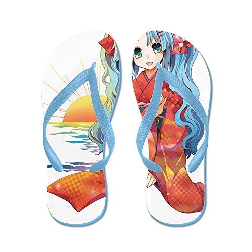 CafePress Moe11 - Flip Flops, Funny Thong Sandals, Beach Sandals Caribbean Blue