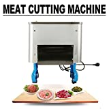 Electric Meat Shred Machine ixaer Commercial Meat Slicer Stainless Steel Fresh Meat Cutter 2.5mm Meat Cutter Cutting Blade Electric Auto Meat Cutting Machine for Restaurant