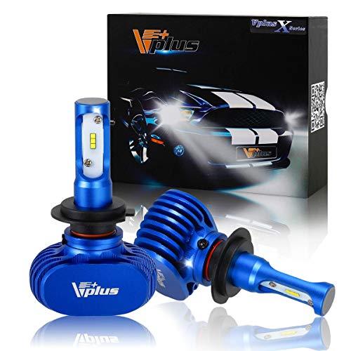 - Vplus X Series LED Headlight Bulbs w/Clear Arc-Beam Kit - H7 72W 8,000LM 6500K White Seoul w/No Fan All in One Headlamp LED Conversion Replace HID & Halogen- (2pcs/Set)