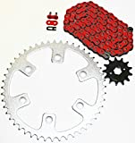 #6: 2003-2014 Honda CRF230F 230 F Red Chain And Sprocket 13/50 110L