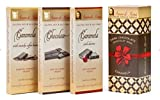 Perfetto Collection: Amore Di Mona Luxury Dark Chocolate and Caramela Box: No Gluten, Peanuts, Tree Nuts, Milk, Sesame or Soy. Vegan, All-Natural, Non-GMO, Low Glycemic