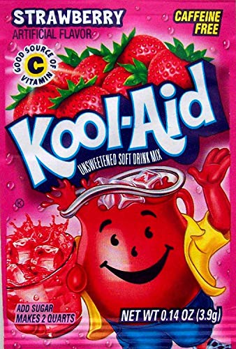 10 Strawberry Kool-Aid Packs