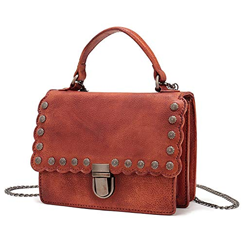 Single Shoulder Mini Chain Bag Genuine Gaoqq crossbody Strap With Square Leather qg0Bnn8S