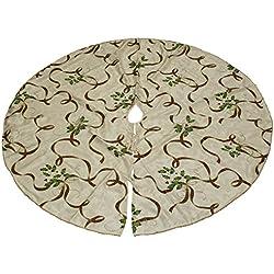 "Lenox Holiday Nouveau Ribbon Tree Skirt 60"""