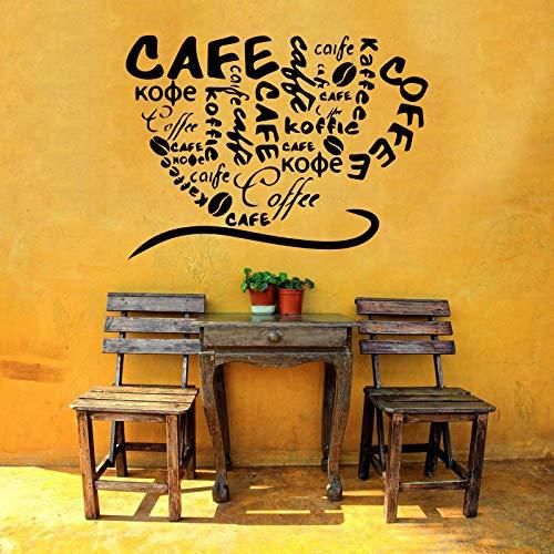Amazon Com Vinyl Sticker Coffee Shop Cafe Restaurant Cup