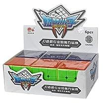 Qm-h Set of 6-pack 3x3x3 Classical Speed Puzzle Magic Cubes Stickerless True Color